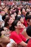 Portret Wietnamscy fan piłki nożnej Zdjęcie Stock