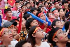 Portret Wietnamscy fan piłki nożnej Fotografia Royalty Free