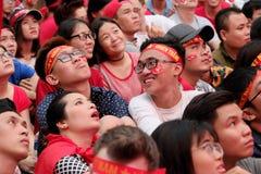 Portret Wietnamscy fan piłki nożnej Obraz Stock