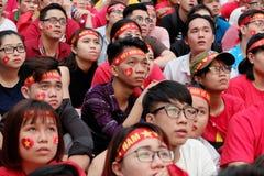 Portret Wietnamscy fan piłki nożnej Obrazy Stock
