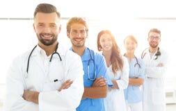 Portret wiodący członkowie centrum medyczne Fotografia Stock