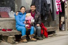 Portret wsi rodzina Zdjęcie Royalty Free
