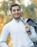 Portret wspaniały młody atrakcyjny mężczyzna fotografia royalty free