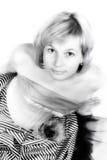 portret wysoka kluczowa kobieta Obraz Royalty Free