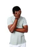 Portret wzburzony afrykański mężczyzna Obrazy Royalty Free