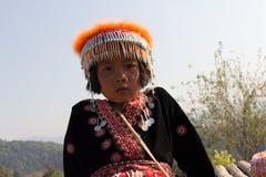 Portret wzgórza plemienia dzieci obraz stock