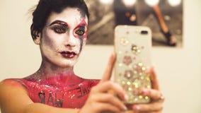 Portret wzorcowy mknący selfie zdjęcie wideo