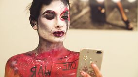 Portret wzorcowy mknący selfie zbiory wideo