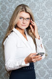 Portret of young businesswoman Stock Photography