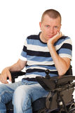 Portret of Young disabled man Stock Photo