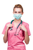 Portret of young medic Royalty Free Stock Photos