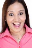 Portret z podnieceniem kobieta fotografia royalty free