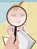 Portret z powiększać - szkło ilustracji