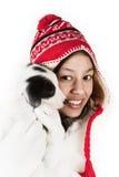 Portret z szczeniakiem obraz royalty free