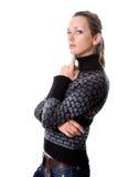 Portret zadumana dziewczyna odizolowywająca Fotografia Stock