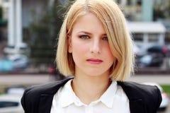 Portret zadumana kobieta obrazy stock