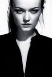 Portret zamknięty młoda kobieta up obrazy stock
