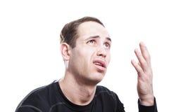 Portret zdziwiony mężczyzna Obraz Stock
