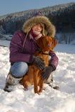 portret zima zdjęcia royalty free
