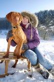 portret zima obrazy stock