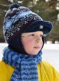 portret zima Zdjęcia Stock