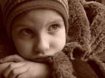 portret zimy. Obraz Royalty Free