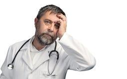 Portret zmęczona lekarka obraz stock