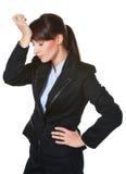 Portret zmęczona młoda biznesowa kobieta Zdjęcie Stock
