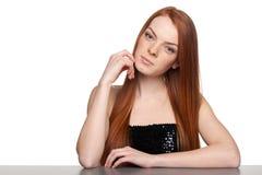 Portret zmysłowa redheaded kobieta Fotografia Stock