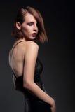 Portret zmysłowy kobieta model obraz stock