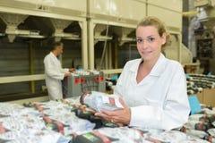 Portreta żeński fabryczny szpieg Obraz Royalty Free