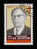 Portreta academician P n Pospelov portret około 1983, Obrazy Royalty Free