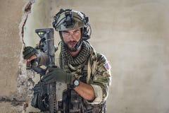 portreta amerykański żołnierz Obrazy Stock