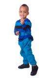 Portreta amerykanin afrykańskiego pochodzenia chłopiec Zdjęcia Stock
