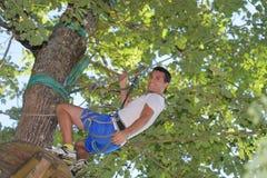 Portreta arywisty mężczyzna w przygoda parku Obraz Stock