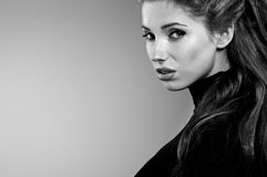 portreta czarny biel Zdjęcie Royalty Free