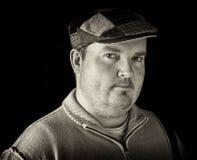 portreta czarny męski z nadwagą biel Fotografia Stock