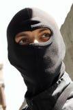portreta czarny maskowy żołnierz Zdjęcie Royalty Free
