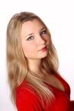 portreta czerwieni kobieta Zdjęcia Stock