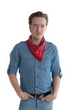 portreta czerwieni szalik Obrazy Royalty Free