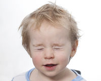 Portreta dziecka berbecia blondynki śmieszna chłopiec Obrazy Stock