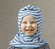 Portreta dziecka berbecia blondynki śmieszna chłopiec Obraz Royalty Free