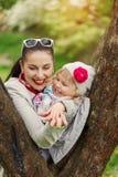 Portreta dziecko i wpólnie outdoors Obrazy Stock