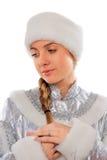 portreta dziewiczy ładny śnieg Obrazy Royalty Free