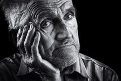 portreta ekspresyjny senior zdjęcia royalty free
