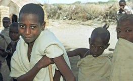 Portreta etiopczyka Daleko dzieci w tradycyjnym kostiumu Obraz Royalty Free