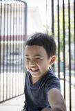 Portreta headshot azjatykcich dzieci twarzy toothy uśmiechnięci happines Zdjęcia Stock