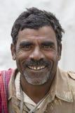 Portreta hindusa biedny człowiek delhi ind nowi Obrazy Royalty Free