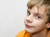 portreta śliczny nastolatek Obrazy Royalty Free