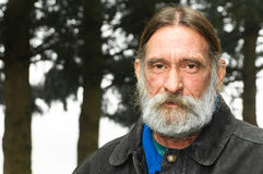 Portreta Mężczyzna Poważny Niewygładzony W Średnim Wieku obrazy stock